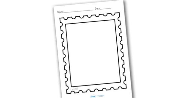 Design a Post Office Stamp - design a stamp, design, make your own, design a stamp worksheet, sheet, design sheet, design template, stamp template, A4 stamp template, A4 stamp design worksheet, post office, post office role play, post office sheet