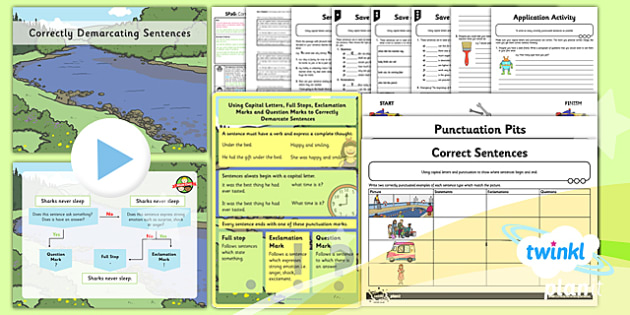 PlanIt Y2 SPaG Lesson Pack: Correctly Demarcating Sentences - sentences, exclamation marks, question marks, command, bossy verbs, questions