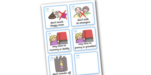 SEN Communication Cards Hazards (Girl) - SEN, communication cards, hazards, my environment, Visual Timetable, SEN, Daily Timetable, girls, School Day, Daily Activities, Daily Routine KS1