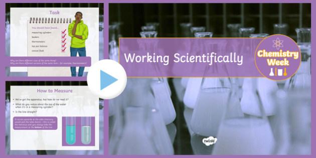 Working Scientifically  Chemistry Week PowerPoint