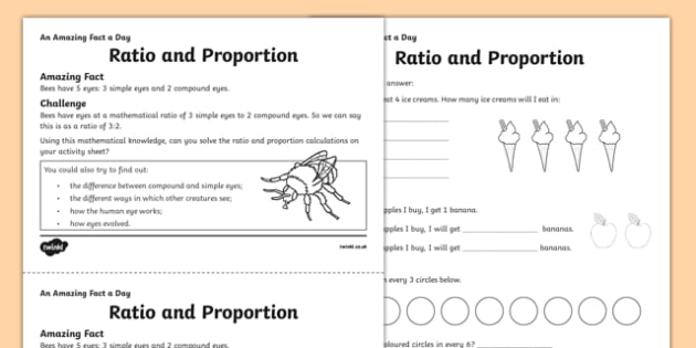 Ratio and Proportion Activity Sheet - amazing fact a day, activity sheet, activity, activities, ration, proportion, worksheet