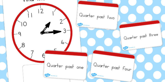 Analogue Clocks Quarter Past Matching - australia, quarter, match