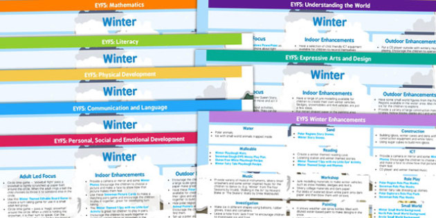 EYFS Winter Themed Lesson Plan and Enhancement Ideas - winter, lesson plan ideas, EYFS, lesson plan, lesson ideas, EYFS ideas, EYFS lesson, winter lessons, winter ideas, lessons