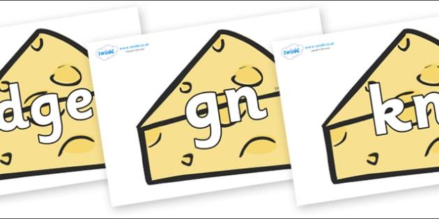 Silent Letters on Cheese - Silent Letters, silent letter, letter blend, consonant, consonants, digraph, trigraph, A-Z letters, literacy, alphabet, letters, alternative sounds
