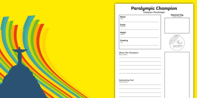 Rio 2016 Paralympics Champion Fact File Romanian Translation-Romanian-translation