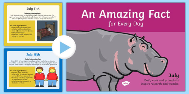 An Amazing Fact a Day July PowerPoint - amazing, face, july