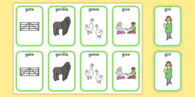 Initial g Sound Playing Cards - initial g, g sound, sounds, cards