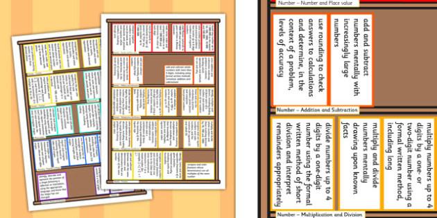 2014 Curriculum Year 5 Maths Assessment Target Colouring Bookshelf