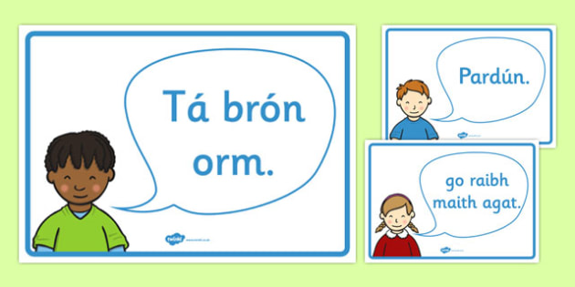 Golden Manners Words Display Posters Gaeilge - gaeilge, Good manners, please, thank you, polite, excuse me, pardon, vocabulary, display, poster