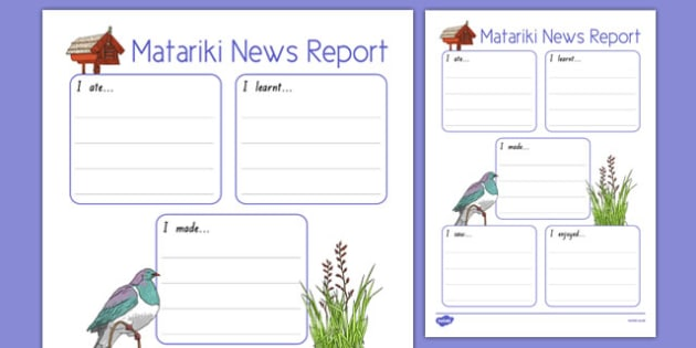Matariki News Report Writing Frame - nz, new zealand, matariki, news report, writing frame