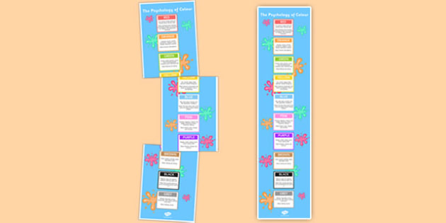 Poster Infographic Psychology of Colour - infographic, psychology of colour, psychology, colour, poster