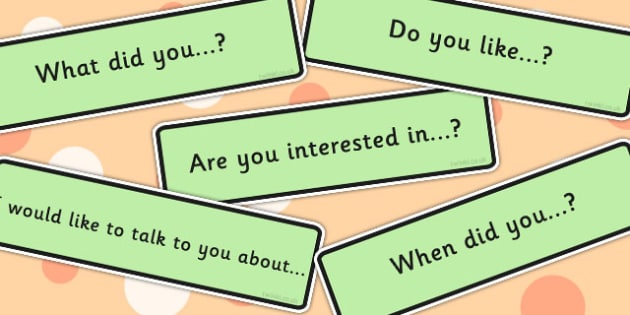Conversation Starters - communication, making friends, visual aid