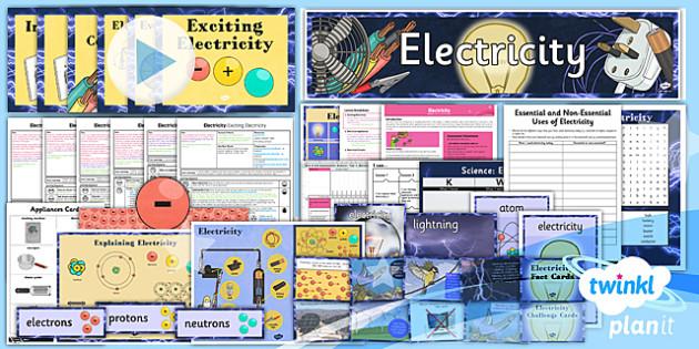 PlanIt - Science Y4 - Electricity Unit Pack - planit, science, year 4, electricity, unit, pack