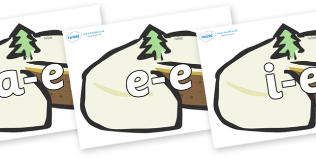 Modifying E Letters on Christmas Cakes - Modifying E, letters, modify, Phase 5, Phase five, alternative spellings for phonemes, DfES letters and Sounds