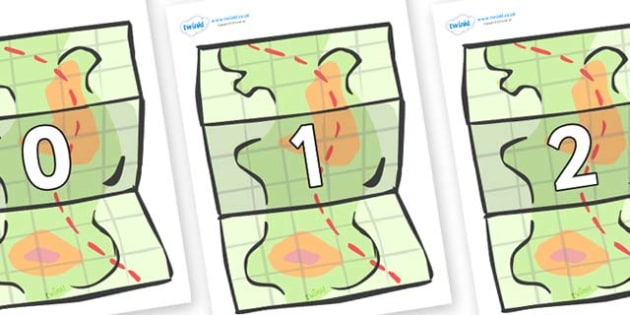Numbers 0-100 on Maps - 0-100, foundation stage numeracy, Number recognition, Number flashcards, counting, number frieze, Display numbers, number posters