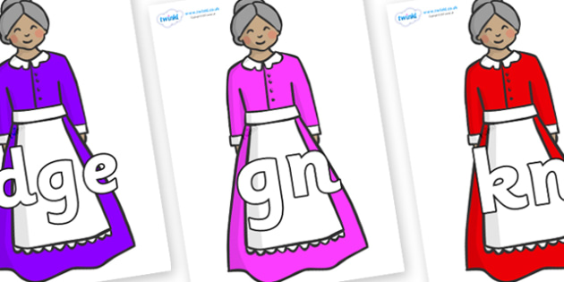 Silent Letters on Old Mother Hubbard - Silent Letters, silent letter, letter blend, consonant, consonants, digraph, trigraph, A-Z letters, literacy, alphabet, letters, alternative sounds