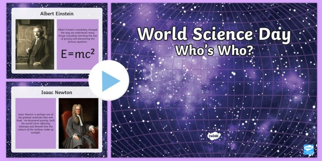 World Science Day: Scientist Who's Who KS2 Quiz PowerPoint