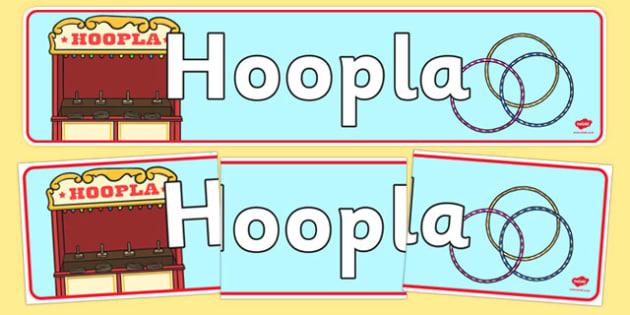 The Hoopla Role Play Display Banner- hoopla, role play, role play banner, display banner, banner for display, hoopla display, hoopla role play