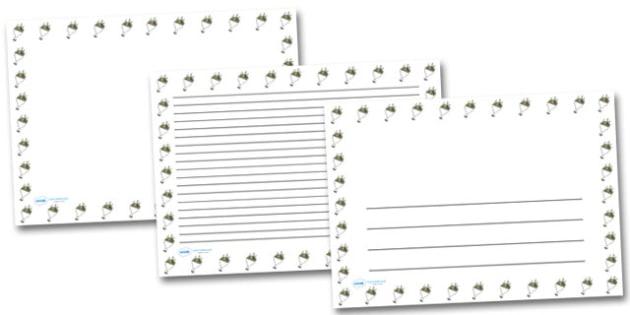 Bouquet Landscape Page Borders- Landscape Page Borders - Page border, border, writing template, writing aid, writing frame, a4 border, template, templates, landscape