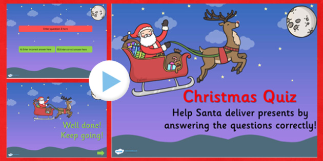 Editable Christmas Quiz PowerPoint - xmas, early years, quiz
