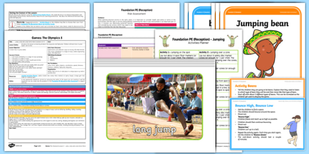 Foundation PE (Reception) - Games - The Olympics Lesson Pack 5: Jump, Jump, and Jump Some More - EYFS, PE, Physical Development, Planning