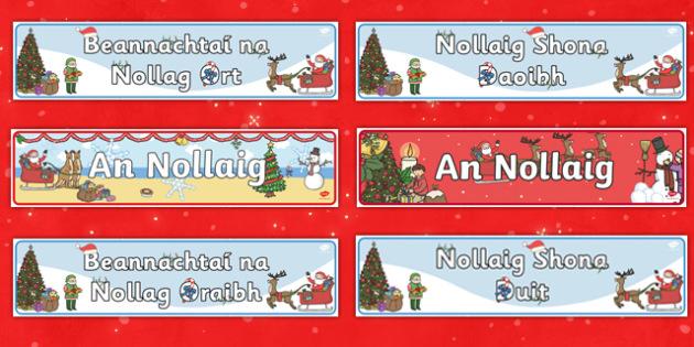 Nollaig Display Pack Gaeilge
