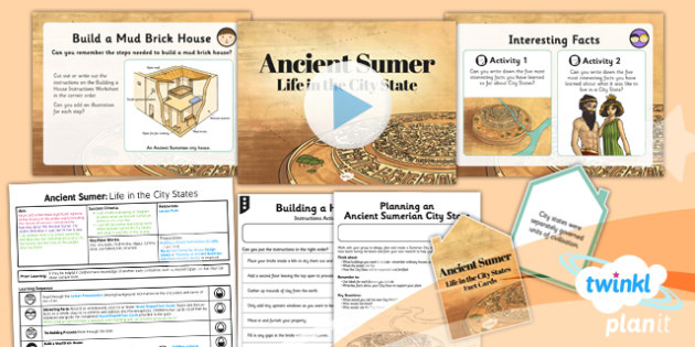 PlanIt History UKS2 Sumer Lesson 2 Life in the City States Pack