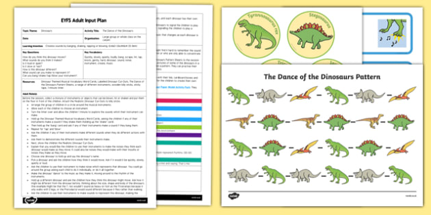 EYFS The Dance of the Dinosaurs Adult Input Plan and Resource Pack