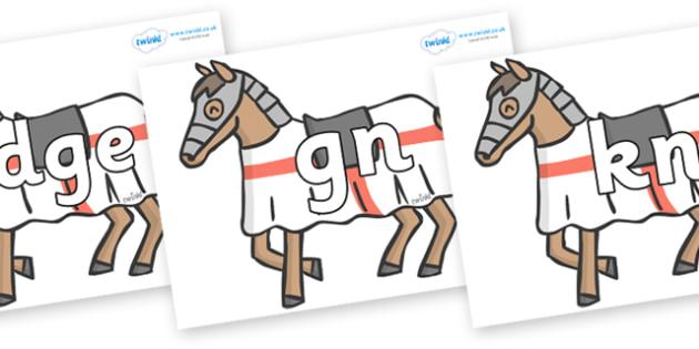 Silent Letters on Horses - Silent Letters, silent letter, letter blend, consonant, consonants, digraph, trigraph, A-Z letters, literacy, alphabet, letters, alternative sounds