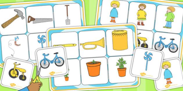 Matching Mat SEN to Support Teaching on Titch - SEN, word mat, visual aid, stories