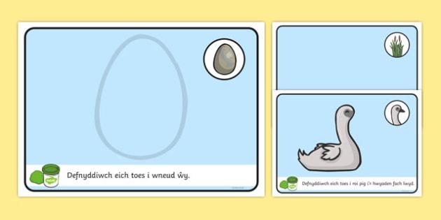 Ugly Duckling Playdough Mats