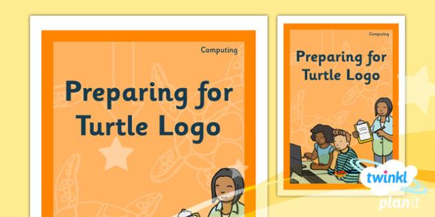 PlanIt - Computing Year 2 - Preparing For Turtle Logo Unit Book Cover - planit, book cover, computing, year 2, preparing for turtle logo