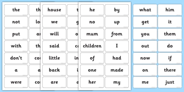 First 100 HF Words - High frequency words, KS1, Key Stage 1, english