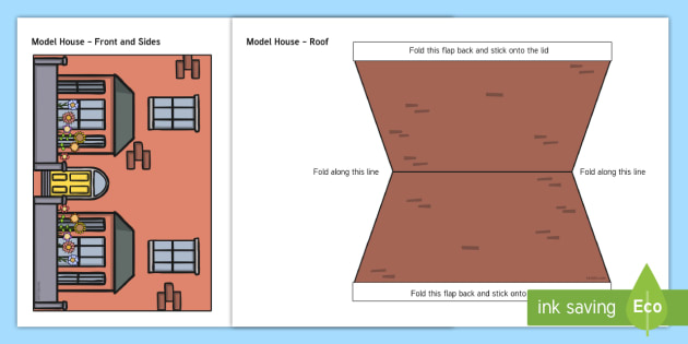 Model House Themed Mug Box Decals Pack - mug box, decals, themed, pack, model house