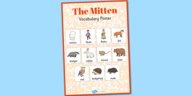 The Mitten Vocabulary Poster - the mitten, vocabulary, poster