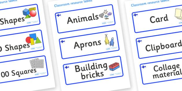 Finland Themed Editable Classroom Resource Labels - Themed Label template, Resource Label, Name Labels, Editable Labels, Drawer Labels, KS1 Labels, Foundation Labels, Foundation Stage Labels, Teaching Labels, Resource Labels, Tray Labels, Printable l