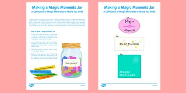 Making a Magic Moments Jar Activity - making, magic, moments, jar, activity