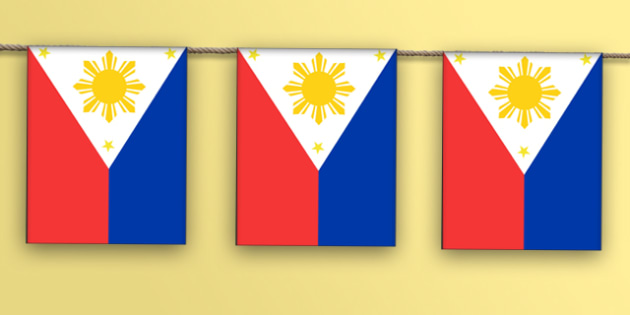 Philippines Flag Bunting - philippines flag, philippines, flag, bunting, display bunting, display