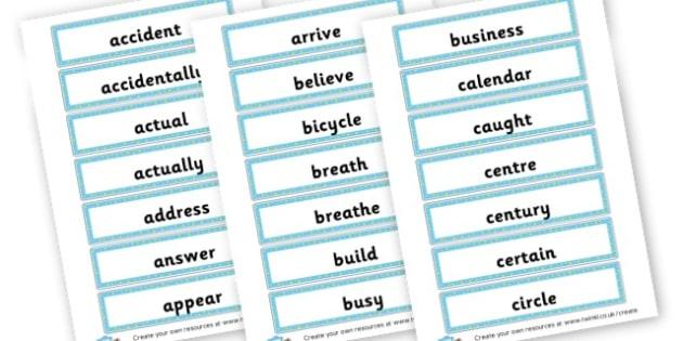 Year 3/4 Spellings Cards - KS2 Spelling Primary Resources, Spelling, KS2 Spelling, KS2