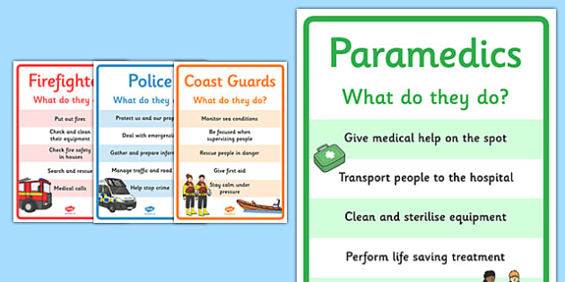 Emergency Information Posters - people who help us, people who help us information posters, people who help us posters, people who help us display posters
