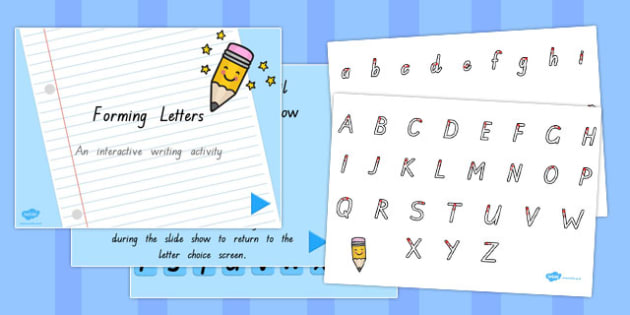 Letter Formation Sheet and PowerPoint Pack TAS - australia, letter formation