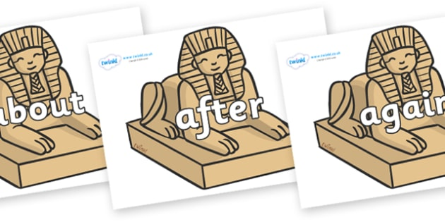 KS1 Keywords on Sphinx - KS1, CLL, Communication language and literacy, Display, Key words, high frequency words, foundation stage literacy, DfES Letters and Sounds, Letters and Sounds, spelling