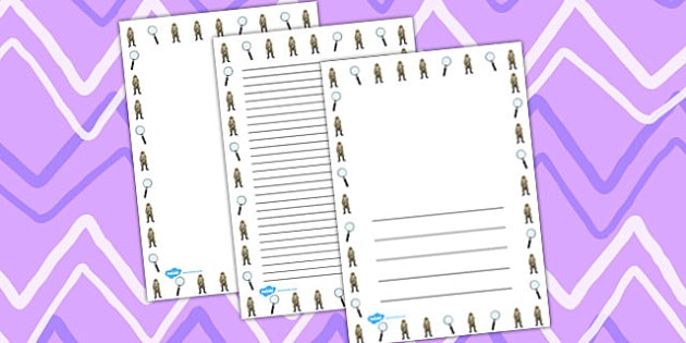 Street Detectives Page Borders - detectives, page borders, street