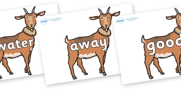 Next 200 Common Words on Medium Billy Goats - Next 200 Common Words on  - DfES Letters and Sounds, Letters and Sounds, Letters and sounds words, Common words, 200 common words
