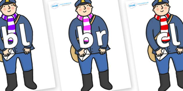 Initial Letter Blends on Jolly Christmas Postman to Support Teaching on The Jolly Christmas Postman - Initial Letters, initial letter, letter blend, letter blends, consonant, consonants, digraph, trigraph, literacy, alphabet, letters, foundation stag