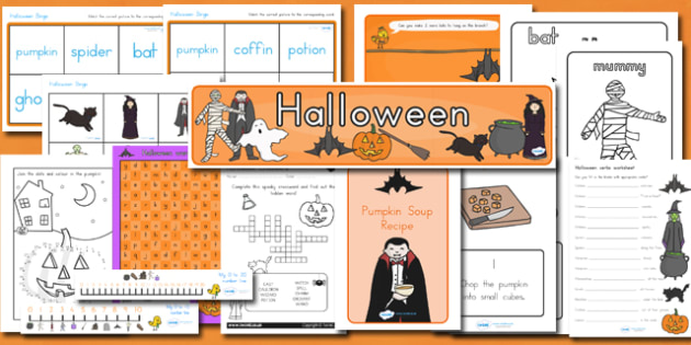 Halloween Pack - halloween, halloween pack, halloween resources, halloween resource set, halloween printables, halloween display, halloween activities