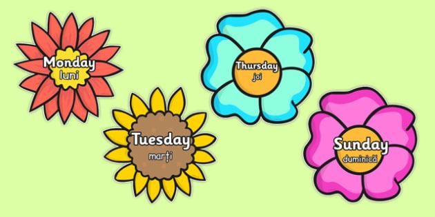 Days of the Week Romanian Translation - romanian, days, week, days of the week