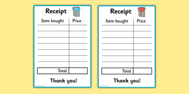 Paint Shop Role Play Receipt - paint shop, role play, receipt, paint, shop, role, play