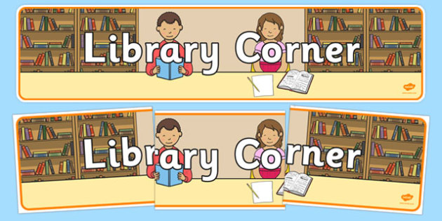 Library Corner Display Banner - library corner, display banner, banner for display, banner, display, display header, header, header for display