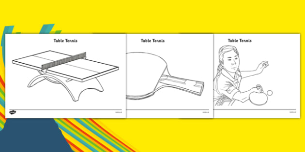 The Olympics Table Tennis Colouring Sheets - Table Tennis, Olympics, Olympic Games, sports, Olympic, London, 2012, colouring, fine motor skills, poster, worksheet, vines, A4, display, activity, Olympic torch, events, flag, countries, medal, Olympic R
